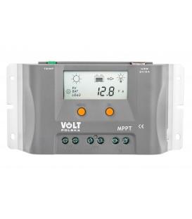 Regulator de tensiune pentru panouri fotovoltaice 10A 12V MPPT cu panou LCD VOLT POLSKA