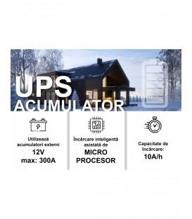 UPS pentru centrala TED Electric 2100VA / 1400W Runtime extins utilizeaza 2 acumulatori (neinclusi)