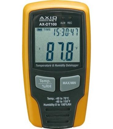 Înregistrator:temperatură şi umiditate -40÷70°C 0÷100%RH AX-DT100