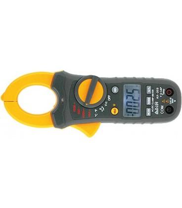 Cleşte ampermetric 400A AC/DC cu măsurare de temp.
