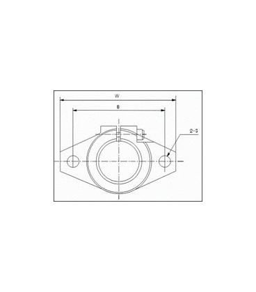 Suport ax rotund 12mm montare axiala SHF12