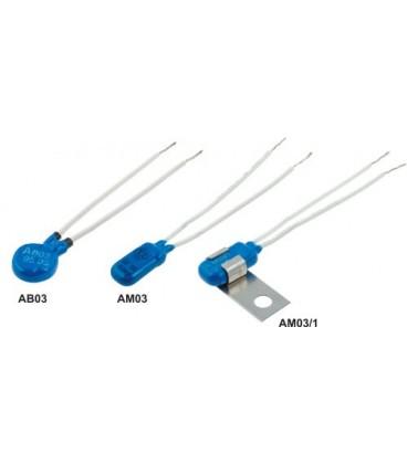 Termostat bimetalic cu fire, diam.15 mm, 6,3A, 90°C AB03-90