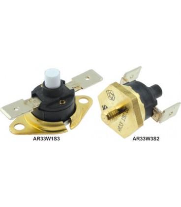 Termostat bimetalic, resetare manuală, 250VAC 16A 130°C AR33W1S3-130