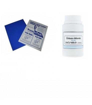 Set 4 Folii tranfer + Clorura Feerica 500gr 4PNP+CLFE500