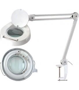 Lampă de masă cu lupă  Mărire:5dpt(x2,25) LAMP-LUP-5DMET