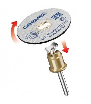 DREMEL® EZ SpeedClic: Discurile de tăiere a metalului, pachet de 5 bucăţi. 2615S456JC