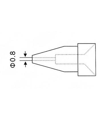 Varf de rezerva tip N5-2 avg.0.8mm ( ZD915 ZD917 ZD552 ) N5-2_Varf_ZD915/ZD915/ZD552_08mm