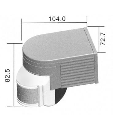 PIR sensor (motion sensor) MULTI bílé PIR-MULTI