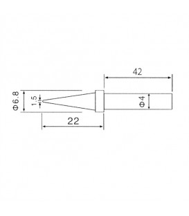 Varf de schimb C1-1  (pentru ZD-30C,ZD-99,ZD-8906,ZD-8906L) C1/1_ZD30C_ZD99_ZD8906