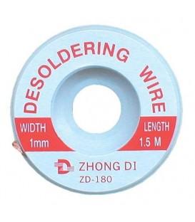 Tresa absorbanta cositor 1mm/1,5m ZD-180-1