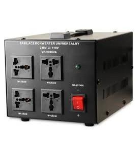Transformator 220-110V AC Putere:2000VA 3 prize iesire VP-2000VA