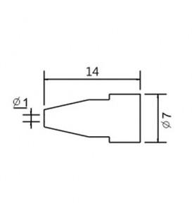 Varf de schimb N5-6/ZD553 avg.1.0mm (ZD-8915) 79-1566