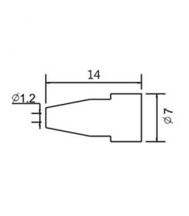 Varf de schimb N5-7/ZD553 avg.1.2mm (ZD-8915) 79-1576