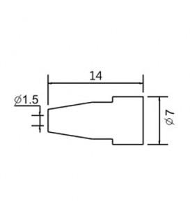 Varf de schimb N5-8/ZD553 avg.1.5mm (ZD-8915) 79-1586