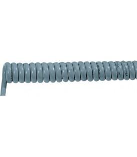 Cablu: spiralat ÖLFLEX® SPIRAL 400 P 3x0,75mm2 PUR gri 0,5m SP400P-3G0.75/500