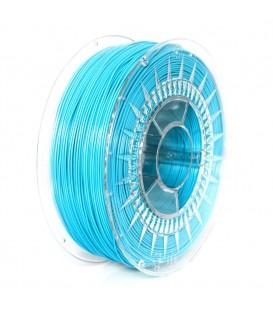 Filament: PLA albastru azur 1kg 195°C ±0,05mm 1,75mm DEV-PLA-1.75-BL
