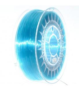 Filament PETG albastru azur transparent 1kg ±0,5% 1,75mm DEV-PETG-1.75-BLT