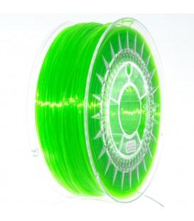 Filament PETG verde stralucitor transparent 1kg ±0,5% 1,75mm DEV-PETG-1.75-BGT