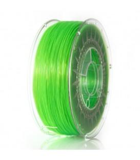 Filament: PLA semitransparent, verde (deschis) 1kg 195°C ±0,5% DEV-PLA-1.75-BGT