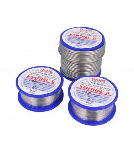 Nichelină - Sârmă rezistivă -100÷1300°C Ambalaj : 0,1kg Ø Exterior : 0.4mm KANTHAL-D-0.40/100