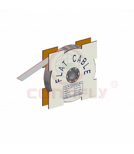 Cablu pamblica pas 1,27mm litat Cu 50x28AWG PVC gri 30,5m