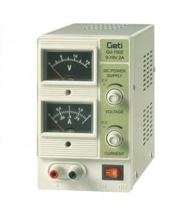 Laboratory power supply Geti  QJ1502A  0-15V/ 0-2A