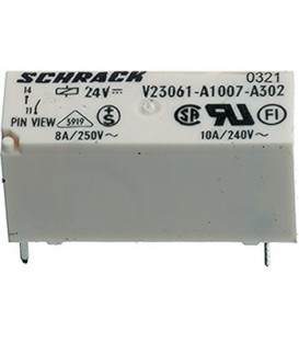 Releu: electromagnetic SPST-NO Ubobină:24VDC 8A/240VAC 8A V23061A1007A302