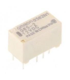 Releu: electromagnetic DPDT Ubobină:12VDC 0,5A/125VAC 140mW G6S-2-12DC