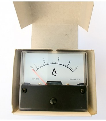Aparat de măsură analog de panou 0-5A CA